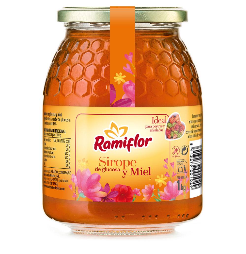Ramiflor glucosa y miel. 1 kg.